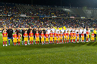 United States (USA) players. The United States (USA) and Germany (GER) played to a 2-2 tie during an international friendly at Rentschler Field in East Hartford, CT, on October 23, 2012.