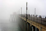 Pier in Fog, Huntington Beach, CA.