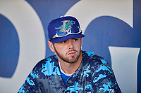 Brandon Lewis (47) of the Ogden Raptors before the game against the Rocky Mountain Vibes at Lindquist Field on July 5, 2019 in Ogden, Utah. The Raptors defeated the Vibes 6-4. (Stephen Smith/Four Seam Images)