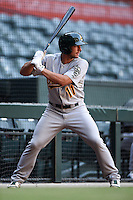 Oakland Athletics catcher Max Kuhn (11) during an Instructional League game against the Arizona Diamondbacks on October 10, 2014 at Chase Field in Phoenix, Arizona.  (Mike Janes/Four Seam Images)