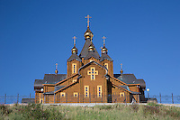 The spectacular Russian Orthodox church of Anadyr is made completely of wood.