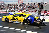 Jun. 2, 2012; Englishtown, NJ, USA: NHRA pro stock driver Jeg Coughlin during qualifying for the Supernationals at Raceway Park. Mandatory Credit: Mark J. Rebilas-