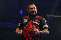 9th October 2021; Morningside Arena, Leicester, England; PDC BoyleSports Darts World Grand Prix finals ; Jonny Clayton celebrates as he wins the fourth set