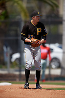 Pittsburgh Pirates pitcher Gage Hinsz (26) gets ready to deliver a pitch during a minor league Spring Training game against the Philadelphia Phillies on March 24, 2017 at Carpenter Complex in Clearwater, Florida.  (Mike Janes/Four Seam Images)