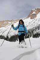 Europe/Italie/Vénétie/Dolomites/env Cortina d'Ampezzo: Randonnée en raquettes  avec Sabina à Campa Croce 2350 m dans le Parc Naturel des Dolomites d'Ampezzo