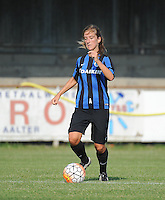 20160827 - AALTER , BELGIUM : Brugge's Katinka Dubois pictured during the soccer match  in the 2nd round of the  Belgian cup 2017 , a soccer women game between Club Brugge and Football Club Bercheux   ,  Aalter , saturday 27 th August 2016 . PHOTO SPORTPIX.BE / DIRK VUYLSTEKE
