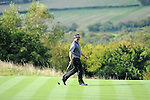 ISPS Handa Wales Open Golf final day at the Celtic Manor Resort in Newport, UK. : Lee Westwood of England smiles after his putt on the 17th.