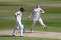 Peter Siddle in bowling action for Essex during Warwickshire CCC vs Essex CCC, LV Insurance County Championship Group 1 Cricket at Edgbaston Stadium on 25th April 2021