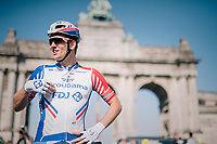 defending champion Arnaud Démare (FRA/Groupama-FDJ) at the start<br /> <br /> 98th Brussels Cycling Classic 2018<br /> One Day Race:  Brussels > Brussels (201km)