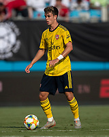 CHARLOTTE, NC - JULY 20: Robbie Burton #41 during a game between ACF Fiorentina and Arsenal at Bank of America Stadium on July 20, 2019 in Charlotte, North Carolina.