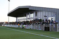 A record attendance of 811 at Parkside during Aveley vs Chelmsford City, Buildbase FA Trophy Football at Parkside on 8th February 2020