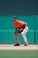 Baltimore Orioles first baseman Ian Evans (63) during a Florida Instructional League game against the Boston Red Sox on September 21, 2018 at JetBlue Park in Fort Myers, Florida.  (Mike Janes/Four Seam Images)