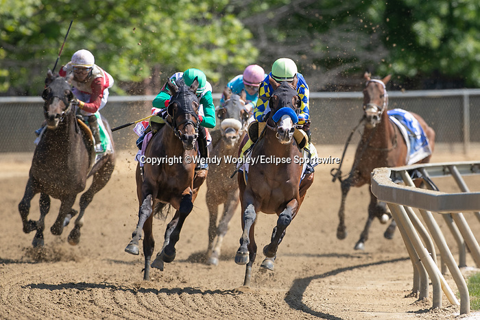 May 15, 2021 : The King Cheek (Jaime Rodriguez up, Jamie Ness trainer, Morris Kernan and Jagger owner) wins the Sir Barton Stakes on Preakness Stakes Day at Pimlico Race Track in Baltimore, Maryland on May 15, 2021. Wendy Wooley/Eclipse Sportswire/CSM