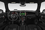 Stock photo of straight dashboard view of 2019 MINI Hardtop-2-Door John-Cooper-Works-Iconic 3 Door Hatchback Dashboard