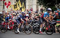 Julian Alaphilippe (FRA/Deceuninck - Quick Step) mid-race<br /> <br /> Elite Men World Championships - Road Race<br /> from Antwerp to Leuven (268.3km)<br /> <br /> UCI Road World Championships - Flanders Belgium 2021<br /> <br /> ©kramon
