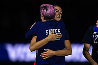 ORLANDO CITY, FL - FEBRUARY 24: Alex Morgan #13 of the USWNT receives her medal during a game between Argentina and USWNT at Exploria Stadium on February 24, 2021 in Orlando City, Florida.
