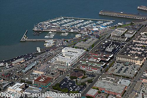 aerial photograph Fisherman's Wharf San Francisco