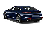 Car pictures of rear three quarter view of 2018 Porsche Panamera Turbo 5 Door Hatchback Angular Rear