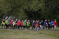 Nordic Walker beim HR4 Walking Day im Rüsselsheimer Mainvorland