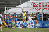 Breakers goalkeeper Alli Lipsher makes a save.  The Boston Breakers defeated the Chicago Red Stars 1-0, at Harvard Stadium, in Cambridge, MA, Wednesday, July 15, 2009.