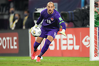 NASHVILLE, TN - SEPTEMBER 5: Milan Borjan #18 of Canada during a game between Canada and USMNT at Nissan Stadium on September 5, 2021 in Nashville, Tennessee.
