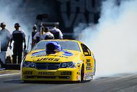 Jun. 15, 2012; Bristol, TN, USA: NHRA pro stock driver Jeg Coughlin during qualifying for the Thunder Valley Nationals at Bristol Dragway. Mandatory Credit: Mark J. Rebilas-