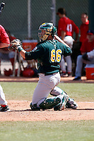Eric Munson - Oakland Athletics - 2009 spring training.Photo by:  Bill Mitchell/Four Seam Images