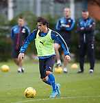 Gai Assulin watched cerefully by the Rangers coaching staff