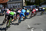 The breakaway group over 8 mins ahead approach the 1st pave sector at Troisvilles-Inchy during the 116th edition of Paris-Roubaix 2018. 8th April 2018.<br /> Picture: ASO/Pauline Ballet | Cyclefile<br /> <br /> <br /> All photos usage must carry mandatory copyright credit (© Cyclefile | ASO/Pauline Ballet)