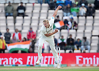 Kyle Jamieson, New Zealand bowling the final over of the days play during India vs New Zealand, ICC World Test Championship Final Cricket at The Hampshire Bowl on 22nd June 2021