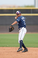 San Diego Padres second baseman Reinaldo Ilarraza (71) during a Minor League Spring Training game against the Seattle Mariners at Peoria Sports Complex on March 24, 2018 in Peoria, Arizona. (Zachary Lucy/Four Seam Images)