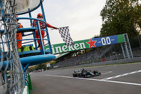 10th September, September 2021; Nationale di Monza, Monza, Italy; FIA Formula 1 Grand Prix of Italy, Free practise and qualifying for sprint race:  44 Lewis Hamilton GBR, Mercedes-AMG Petronas F1 Team takes 2nd place for the sprint race on 11th