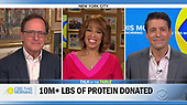 """Pictured in this screen capture: Hosts Anthony Mason (L), Gayle King (C) and Tony Dokoupil during """"CBS This Morning"""" aired on April 13, 2020 (Photo by: CBS via ON-SITEFOTOS)"""
