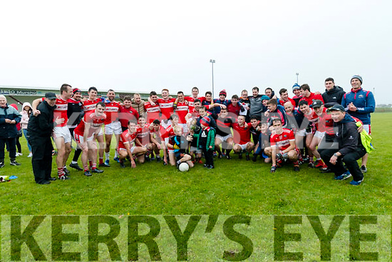 Daingean Uí Chúis celebrating after defeating An Ghaeltacht  during the West Kerry Senior Football Championship Final at Gallarus on Sunday afternoon.