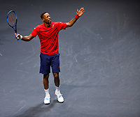 Rotterdam, The Netherlands, 15 Februari 2020, ABNAMRO World Tennis Tournament, Ahoy,<br /> Gaël Monfils (FRA).<br /> Photo: www.tennisimages.com