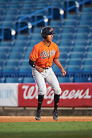 Mark Vientos (12) of American Heritage High School in Pembroke Pines, Florida playing for the Baltimore Orioles scout team during the East Coast Pro Showcase on August 3, 2016 at George M. Steinbrenner Field in Tampa, Florida.  (Mike Janes/Four Seam Images)