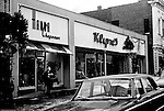 Pittsburgh PA - View of the Forbes Avenue business district near the bluff in Pittsburgh. Other stores on the block; Forbes Hardware Store, Klyne's Clothing Store, Oliver Flower Shop, and Hanna Chapeaux