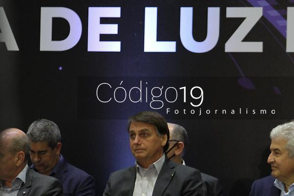 Campinas (SP), 21/10/2020 - Política-SP - O presidente Jair Bolsonaro (sem partido) visita Campinas nesta tarde de quarta-feira (21) e participa da cerimônia de abertura da Primeira Linha de Luz Sirius no Centro Nacional de Pesquisa em Energia e Materiais, no Polo II de Alta Tecnologia de Campinas.
