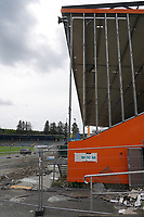 Baustelle an der Haupttribuene am Stadion am Boellenfalltor - 27.08.2020: SV Darmstadt 98 Mannschaftsfoto, Stadion am Boellenfalltor, 2. Bundesliga, emonline, emspor<br /> <br /> DISCLAIMER: <br /> DFL regulations prohibit any use of photographs as image sequences and/or quasi-video.