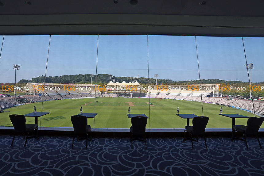 A view from the media centre ahead of Hampshire Hawks vs Essex Eagles, Royal London One-Day Cup Cricket at The Ageas Bowl on 22nd July 2021