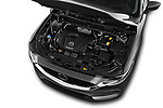 Car stock 2017 Mazda CX-5 Grand Touring 5 Door SUV engine high angle detail view