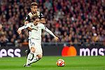 Real Madrid CF's Luka Modric and AFC Ajax's David Neres during UEFA Champions League match, Round of 16, 2nd leg between Real Madrid and AFC Ajax at Santiago Bernabeu Stadium in Madrid, Spain. March 05, 2019.(ALTERPHOTOS/Manu R.B.)