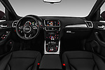 Stock photo of straight dashboard view of 2016 Audi Q5 5 Door Suv Dashboard
