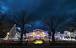 Christmas lights on the Governor's Mansion in Carson City, Nev. on Wednesday, Nov. 30, 2016.<br /> Photo by Cathleen Allison