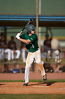Cooper Allen (1) bats during the Perfect Game National Underclass East Showcase on January 23, 2021 at Baseball City in St. Petersburg, Florida.  (Mike Janes/Four Seam Images)