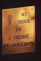 Europe/France/Rhône-Alpes/69/Rhone/Lyon: Plaque célébrant les Bouchons Lyonnais