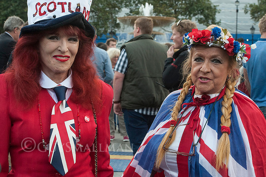 The 'No' campaign in the Scottish independence referendum hold a rally in Trafalgar square in London. 15-9-14