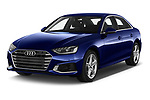 2020 Audi A4 Advanced 4 Door Sedan angular front stock photos of front three quarter view