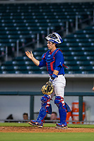 AZL Cubs catcher Will Remillard (17) on defense against the AZL White Sox on August 13, 2017 at Sloan Park in Mesa, Arizona. AZL White Sox defeated the AZL Cubs 7-4. (Zachary Lucy/Four Seam Images)
