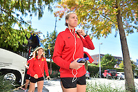 Houston, TX - Sunday Oct. 09, 2016: Alanna Kennedy prior to a National Women's Soccer League (NWSL) Championship match between the Washington Spirit and the Western New York Flash at BBVA Compass Stadium.